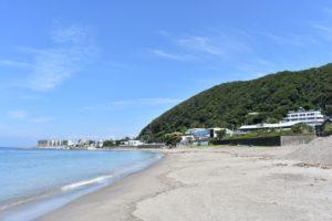 葉山ボート釣り,砂浜